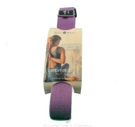 DROPPED: Hugger Mugger Yoga Products - Cotton Cinch Strap Purple - 8 ft. CLEARANCE PRICED
