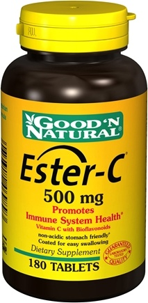 DROPPED: Good 'N Natural - Ester-C with Bioflavonoid Complex 500 mg. - 180 Tablets