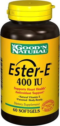 DROPPED: Good 'N Natural - Ester-E 400 IU - 60 Softgels