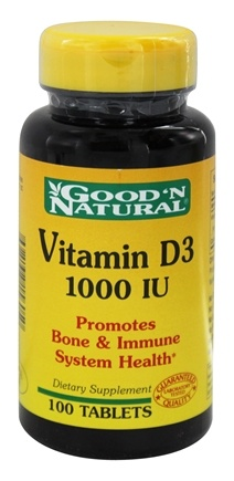 DROPPED: Good 'N Natural - Vitamin D3 1000 IU - 100 Tablets