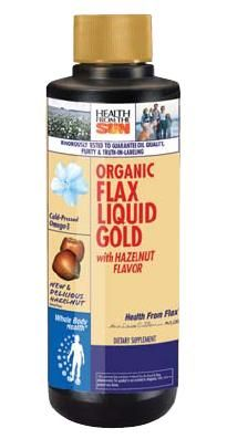DROPPED: Health From The Sun - Liquid Gold Organic Flax with Hazelnut - 8 oz.