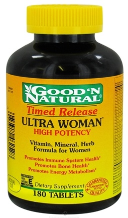 DROPPED: Good 'N Natural - Ultra Woman Time Release Vitamin Mineral & Herb Formula - 180 Tablets