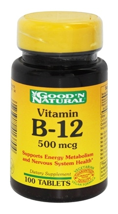 Good 'N Natural - Vitamin B-12 500 mcg. - 100 Tablets
