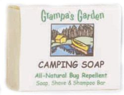 DROPPED: Grampa's Garden - Camping Bar Soap All Natural Bug Repellent - 4 oz.