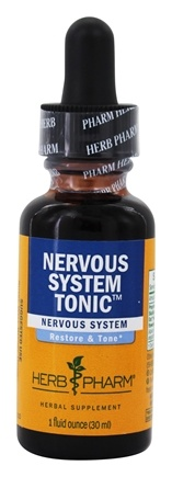 DROPPED: Herb Pharm - Nervous System Tonic Compound - 1 oz. CLEARANCE PRICED