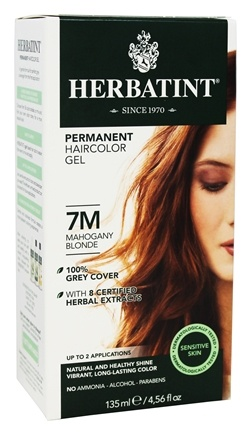 DROPPED: Herbatint - Herbal Haircolor Permanent Gel 7M Mahogany Blonde - 4.5 oz.