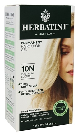 Herbatint - Herbal Haircolor Permanent Gel 10N Platinum Blonde - 4.5 oz.