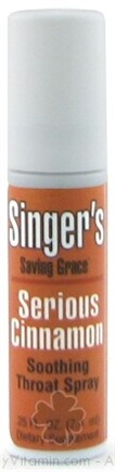 DROPPED: Herbs Etc - Singers Saving Grace Soothing Throat Spray Serious Cinnamon - 0.25 oz.