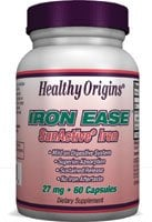 DROPPED: Healthy Origins - Iron Ease 27 mg. - 60 Capsules CLEARANCE PRICED