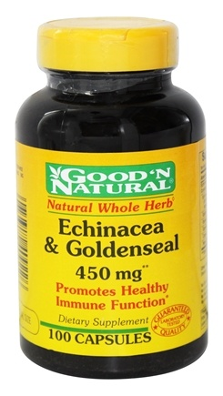 DROPPED: Good 'N Natural - Echinacea & Goldenseal 450 mg. - 100 Capsules Formerly Plus