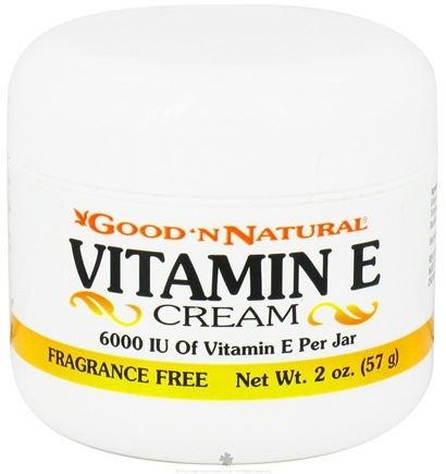 Good 'N Natural - Vitamin E Cream Fragrance Free 6000 IU - 2 oz.