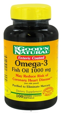 Good 'N Natural - Enteric Coated Omega-3 Fish Oil 1000 mg. - 100 Softgels