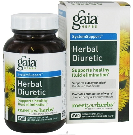 DROPPED: Gaia Herbs - Herbal Diuretic Liquid Phyto Capsules - 60 Vegetarian Capsules Formerly Liquid Lieve