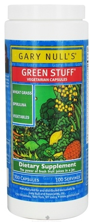 DROPPED: Gary Null's - Green Stuff - 300 Vegetarian Capsules