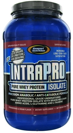 DROPPED: Gaspari Nutrition - IntraPro Pure Whey Protein Isolate Strawberries & Cream - 2 lbs. CLEARANCE PRICED