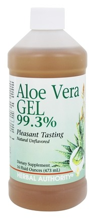 Herbal Authority - Aloe Vera Gel 99.3% - 16 oz. Formerly called Good 'N Natural
