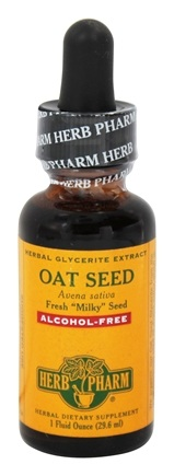 DROPPED: Herb Pharm - Oat Seed (Avena Sativa) Herbal Glycerite Extract Alcohol-Free - 1 oz. with Oat Straw Extract