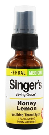 Herbs Etc - Singer's Saving Grace Soothing Throat Spray Honey Lemon - 1 oz.