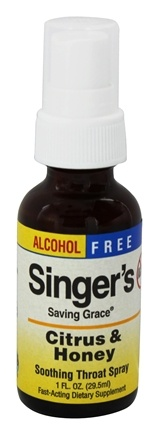DROPPED: Herbs Etc - Singer's Saving Grace Soothing Throat Spray Alcohol Free Citrus & Honey - 1 oz.