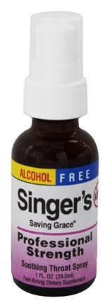 Herbs Etc - Singer's Saving Grace Soothing Throat Spray Professional Strength Alcohol Free - 1 oz.