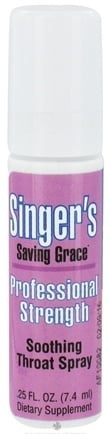 DROPPED: Herbs Etc - Singer's Saving Grace Soothing Throat Spray Professional Strength Alcohol Free - 0.25 oz. CLEARANCE PRICED