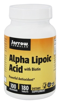 Jarrow Formulas - Alpha Lipoic Acid With Biotin 100 mg. - 180 Tablets