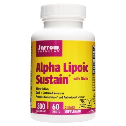 Jarrow Formulas - Alpha Lipoic Sustain with Biotin 300 mg. - 60 Vegetarian Tablets