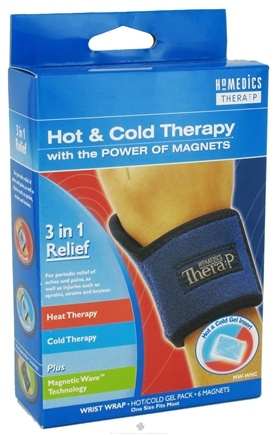 DROPPED: HoMedics - Wrist Wrap Hot and Cold Therapy with the Power of Magnets MW-KHC - CLEARANCE PRICED