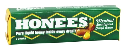 Honees - Liquid Honey Menthol Euclayptus Drops - 9 Lozenges