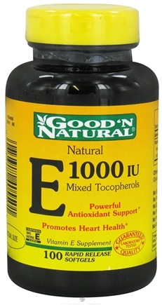 Good 'N Natural - Natural Vitamin E Mixed Tocopherols 1000 IU - 100 Softgels