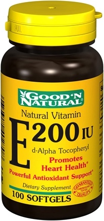 DROPPED: Good 'N Natural - Natural Vitamin E d-Alpha Tocopheryl 200 IU - 100 Softgels