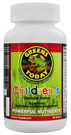 Greens Today - Children's Formula - 60 Wafers