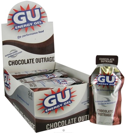 DROPPED: GU Energy - GU Energy Gel with Caffeine Chocolate Outrage - 24 Packet(s)