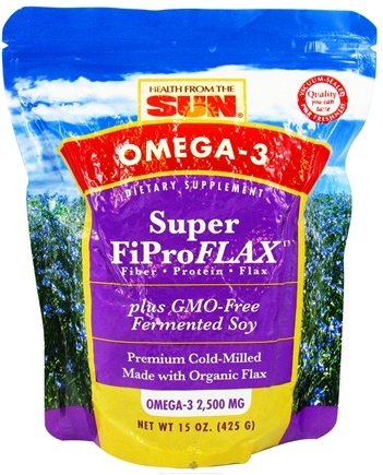 DROPPED: Health From The Sun - Omega-3 Super FiProFLAX plus GMO-Free Fermented Soy 2500 mg. - 15 oz. CLEARANCE PRICED