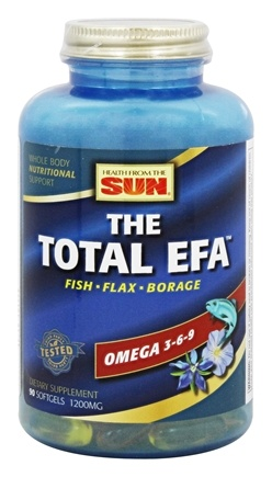 Health From The Sun - Omega 3-6-9 Total EFA - 90 Softgels
