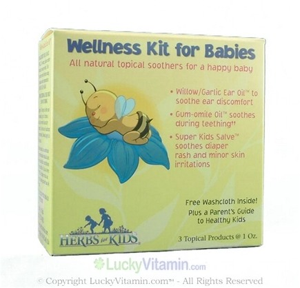 DROPPED: Herbs for Kids - Wellness Kit for Babies Topical Soothers for a Happy Baby