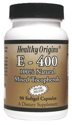 DROPPED: Healthy Origins - Vitamin E 400 IU - 90 Softgels