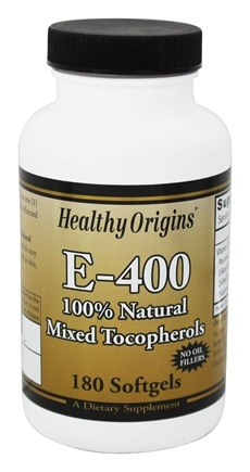 Healthy Origins - Vitamin E 400 IU - 180 Softgels