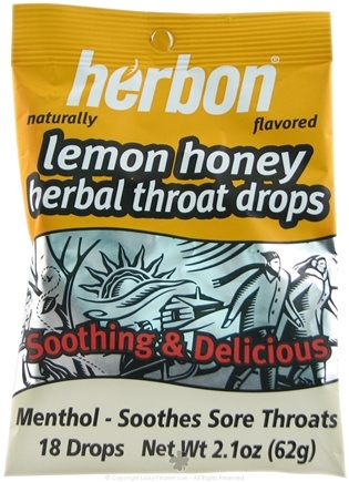 DROPPED: Herbon - Herbal Throat Drops Lemon Honey - 18 Piece(s)