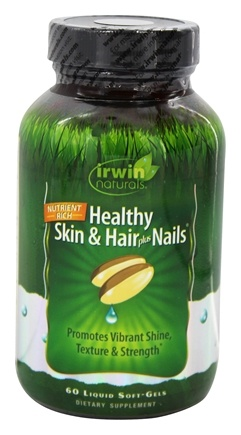 Irwin Naturals - Healthy Skin & Hair Plus Nails - 60 Softgels