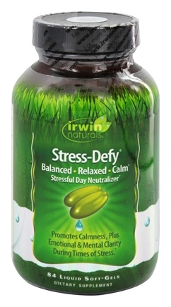 Irwin Naturals - Stress-Defy Balanced Relaxed Calm Stressful Day Neutralizer - 84 Softgels