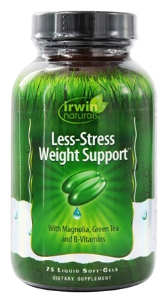 Irwin Naturals - Less-Stress Weight Control - 75 Softgels (contains Magnolia Bark)