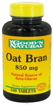 DROPPED: Good 'N Natural - Oat Bran 850 mg. - 100 Tablets