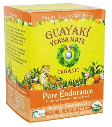 DROPPED: Guayaki - Yerba Mate Pure Endurance 100% Organic - 16 Tea Bags