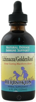 DROPPED: Herbs for Kids - Echinacea/GoldenRoot Blend Blackberry Flavor - 4 oz.