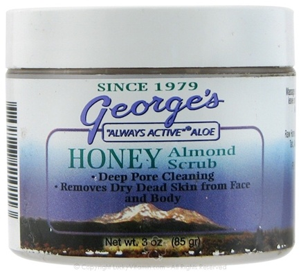 DROPPED: George's Aloe - Aloe Honey Almond Scrub - 3 oz.