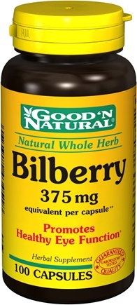 Good 'N Natural - Bilberry 375 mg. - 100 Capsules