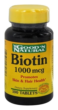 DROPPED: Good 'N Natural - Biotin 1000 mcg. - 100 Tablets