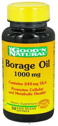 Good 'N Natural - Borage Oil Contains GLA 1000 mg. - 50 Softgels