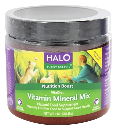 Halo Purely for Pets - VitaGlo Vitamin Mineral Mix - 9 oz. Formerly Vita Anitra's herbal formulation
